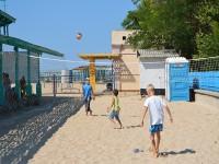 Спортплощадка на пляже